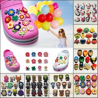 11- 12Pcs Lot Flowers Kitty PVC Cartoon Shoe Charms Ornaments...