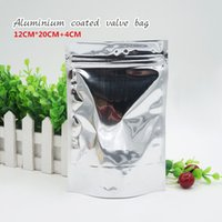 12 * 20 + 4 cm Opaque selbst gestylten Standbeutel Aluminiumfolie Beutel Lebensmittel Lagerung Kosmetik Maske Verpackung Spot 100 / Paket