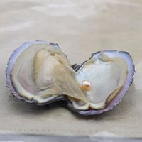 6- 7. 5mm Akoya Natural Pearl Oyster With Water Droplets Loose...