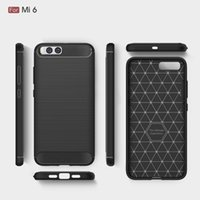 Fundas de la bolsa de CellPhone para la armadura a prueba de choques resistente de la fibra de carbono de Xiaomi Mi6 para Xiaomi Mi6 2017 venta caliente Envío libre