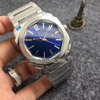 Yüksek Kalite Octo Solotempo 42mm Mavi Dial 102105 BGO38C3SSD Japonya Kuvars erkek İzle Paslanmaz Çelik Bilezik Ucuz Yeni Saatler