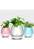 2017 Nuevo TOKQI bluetooth inteligente de la música Flower pots planta real inteligente touch juego maceta luz colorida de tiempo largo play bass speaker