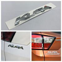 KUGA Lettres Logo Chrome ABS Decal voiture du coffre arrière Couvercle insigne emblème autocollant pour Ford Kuga