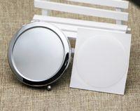 جيب مرآة فارغة ماكياج مرآة مرآة مكبرة مع الراتنج الايبوكسي ملصقا الفضة mirroir # m070s انخفاض الشحن
