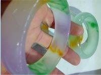 2016 природных грузов льда виды природного жадеита нефрит браслет женщин три цвета нефрит браслеты 56-60 мм
