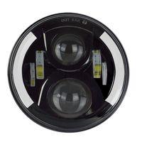Carbest 7 inç Yuvarlak CREE LED Farlar Beyaz Halo Yüzük Melek Gözler + Amber Dönüm Sinyal Işıkları Jeep Wrangler 7510FA için
