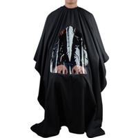 المهنية صالون حلاقة قطع الشعر الأسود قص الرأس تصفيف الشعر ثوب مصمم عرض نافذة التفاف