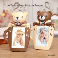 6 Inch High Quality Cute Teddy Bear Picture Frame Cartoon Cu...