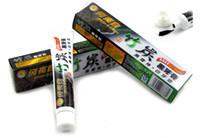 Di alta qualità 100g carbone dentifricio sbiancante nero dente pasta di bambù carbone di legna dentifricio igiene orale prodotto DHL LIBERO