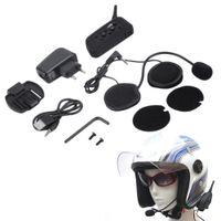Versão mais nova V6 1200M Capacete de Motocicleta Bluetooth Intercom Headset Moto Intercomunicador 6 Riders BT Interphone Plug