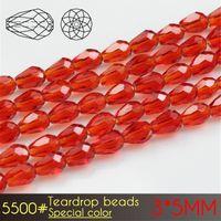 A5500 Spezielle Farben Serie Transparent Glasperlen für DIY Schmuck Machen 3x5mm Teardrop Lose Perlen Handgemachte Armbänder Handwerk Zubehör