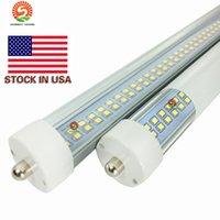 Wholesale! New 384PCS SMD double rows 72w LED tube light FA8 8FT 72W fluorescent lamp T8 tube AC85-265V 8ft tube high lumens hot