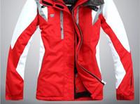2018 NOUVEAU haute qualité en plein air sportswear veste de ski femmes costume de ski coupe-vent imperméable à l'eau de ski vêtements Livraison gratuite