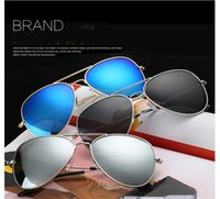 Unisex Sunglasses Classic Eyeglasses Retro Aviator Mirror Re...