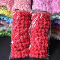 144pcs set 2cm Mini Foam Rose Artificial Flower Bouquet Mult...