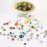 Strati misti di colore 10 grammi / borsa Decorazioni di arte del chiodo 3D Strass di cristallo non hotfix con retro piatto per unghie fai da te