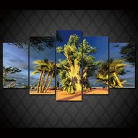 5 Pcs Set Framed HD Printed Desert tree Landscape picture Pa...