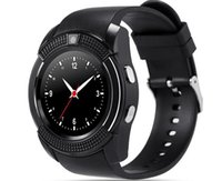 V8 Smart Watch Bluetooth Uhren Android mit 0.3M Kamera MTK6261D DZ09 GT08 Smartwatch für Android-Handy mit Retail-Paket