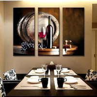3pcs / set Unframed Table Wine Elegant Design Oil Painting On Canvas Giclee Wall Art Painting Art Picture Для домашнего декора