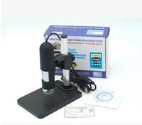 Microscopio digitale USB all'ingrosso 1000x + supporto (nuovo), 8 LED Endoscopio con microscopio USB Software di misura