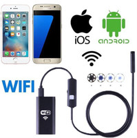 Freeshipping 200w Android iPhone Endoscope WiFi Téléphone IOS Endoscope USB 6 mm Imperméable Sespect Camera / Video