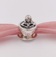 925 Grânulos de prata esterlina Alice em Wonderland Teacup Fantasyland Charm Charms se encaixa na Europa Pandora Estilo de Jóias Braceletes Colar
