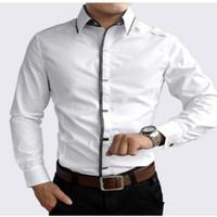 Frühling Herbst Baumwolle Kleid Shirts Hohe Qualität Herren Freizeithemd Casual Männer Plus SizeXXXL Slim Fit Social Shirts