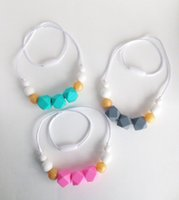 Silicone Teething Beads Food Grade Silicone Teethers Colorfu...