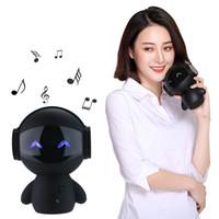 Intelligente Bluetooth-Funkroboter-Lautsprecher Mini Bass Tragbare Spieluhr Intelligente Freisprecheinrichtung Subwoofer Lautsprecher Mit Power Bank