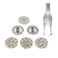 Nachtlichter Weinflasche 6 LEDs Aufkleber-Untersetzer-Discs Licht für Alkoholflasche oder andere klare Glasdekorationsparty