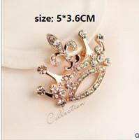 Grande couronne diamant broches broches couples broche corsage accessoires fête de noël cadeau d \ 'anniversaire vraies photos taille unique