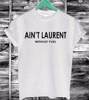 All'ingrosso 2016 donne maglietta estate non Lettere cotone della stampa divertente casual Maglietta Nero Bianco manica corta Slim sexy maglietta F4203-66