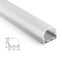 10 X 1M наборы / серия типа U скрытого монтаж алюминиевого профиля и привели анодированные крышки линии привела профиль канала для потолочных подвесных светильников