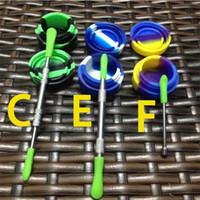 Kit en silicone avec des tampons en silicone Dab Pad pour les pots de cire Dabs Outil en acier inoxydable et en titane Dabber