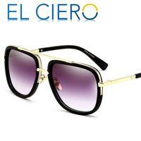남성 여성을위한 EL CIERO 디자이너 선글라스 2019 고품질 광장 태양 안경 Unisex 패션 쉐이드 UV400 보호