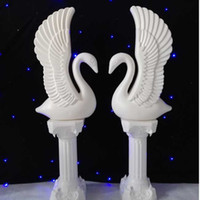 Upscale White Plastic Swan Wedding Roman Column Party Welcom...