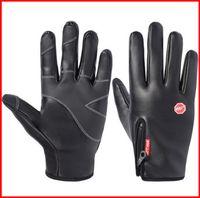 Siyah Rüzgar Geçirmez Eldiven Sentetik Deri Su Geçirmez WindStopper Yumuşak Sıcak Kış Açık Eldiven M L XL Yürüyüş Bisikleti Spor out231