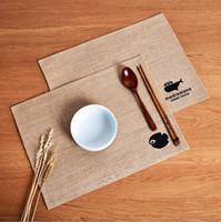 Nuevos accesorios de cocina creativo Japón estilo a prueba de agua mesa de yute manteles taza de café esteras antideslizantes almohadillas resistentes al calor