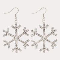 Accesorios al por mayor lot Silver Snowflakes Stud Pendientes Mujeres Crystal Rhinestone Circón Snow Flower Earring Fashion Ear Jewelry
