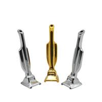 25x портативный мини золото / серебряное пятно курить металлические трубы Shisha Cokah Rolling Sniff Snorter Cleans Tips