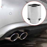 Sistema universal de escape de tubo de acero inoxidable con borde de silenciador de la cola del coche modificado tubo de escape modificado