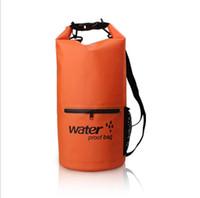 Açık Sürüklenen yüzme çanta Su Geçirmez Kuru Çanta 10 L PVC Tente Yan örgü cepli su geçirmez kuru kılıfı