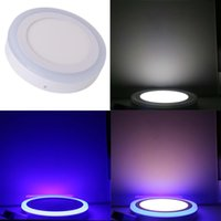 IN stock 6W 9W 16W 24W Blue+ White Square Round Led Panel Lig...