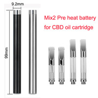 Mix2 Preriscaldamento Vape Pen 510 Batteria 350mah Penna vaporizzatore a tensione variabile per cartucce olio Atomizzatore CE3 280mAh l0 l10
