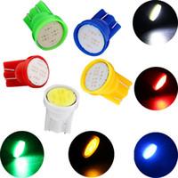 Super brillant!! 100Piece / Lot T10 COB 2W Haute Puissance LED Voiture Led Ampoules Intérieures Lecture Lumière Blanche Lumière