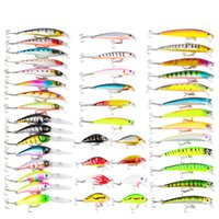 Minnow Fishing Lures Kit Saltwater Freshwater Hard Bait Tack...