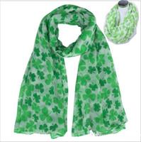 Four Leaf Clover Shamrock Stampa Donna Infinity Scarf St Patrick Day Factory Derecly Vendita Sciarpe