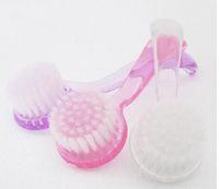 البلاستيك المهنية مسمار الفن فرشاة تنظيف الغبار مع كاب جولة رئيس المكياج غسل فرشاة مانيكير باديكير أدوات الأظافر