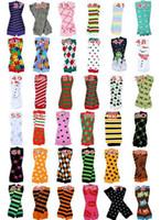 120pair 318 stili per scelgono cotone del bambino degli scaldini del piedino per bambini scaldino infantile Legwarmers barba baffi