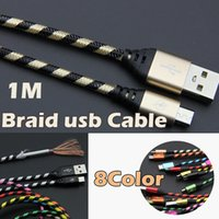 1M 3FT USB2. 0 Micro USB Cable Nylon Braided Data Sync Chargi...